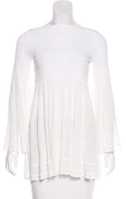 Alaia Silk-Blend Top