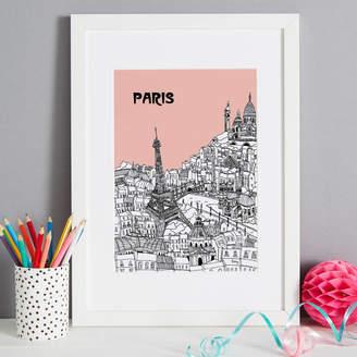 Tessa Galloway Illustration Screen Print Paris