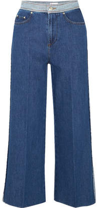 RED Valentino Cropped High-rise Wide-leg Jeans - Mid denim