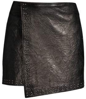 Joie Orlanda Washed Leather Mini Skirt