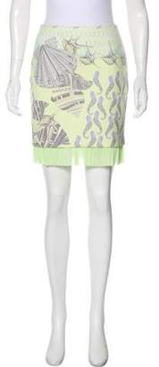 Versace Seashell Print Mini Skirt w/ Tags