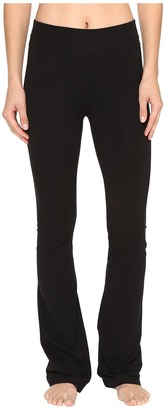 Hard Tail - Rolldown Bootleg Flare Pants Women's Casual Pants $60 thestylecure.com