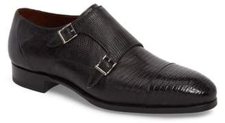 Magnanni Pavo Lizard Leather Monk Shoe