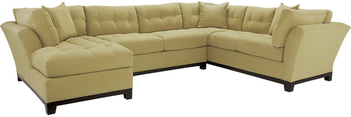 Cindy Crawford Home Metropolis Wasabi Left 3 Pc Sectional