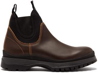 Prada Brixxen neoprene-panelled leather Chelsea boots
