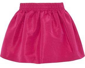 RED Valentino Gathered Faille Mini Skirt