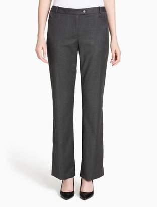 Calvin Klein straight leg tonal glen plaid pants