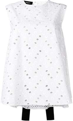Rochas eyelet embroidery blouse