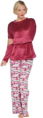 Cuddl Duds Petite Ultra Plush Velvet Fleece Novelty Pajama Set