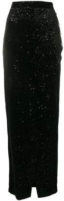 Balmain glitter maxi skirt