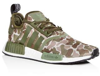 adidas Men's NMD R1 Camo Print Lace Up Sneakers