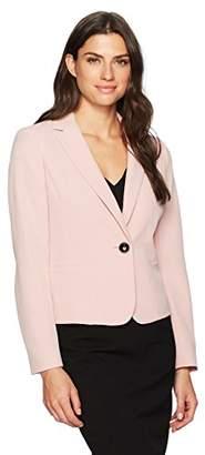 Kasper Women's Notch Lapel Twill One Button Jacket