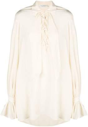 Philosophy di Lorenzo Serafini lace-up detail blouse