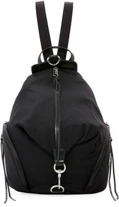 Rebecca Minkoff Washed Nylon Multi-Zip Backpack, Black