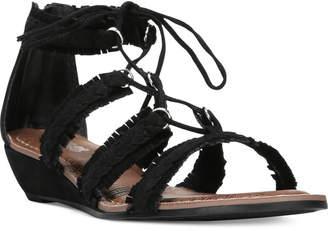 Carlos By Carlos Santana Kenzie Lace-Up Gladiator Sandals $59 thestylecure.com