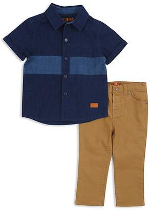 7 For All Mankind Boys' Chambray Shirt & Twill Pants Set - Little Kid