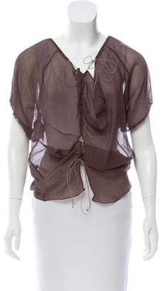 Stella McCartney Silk Metallic Top