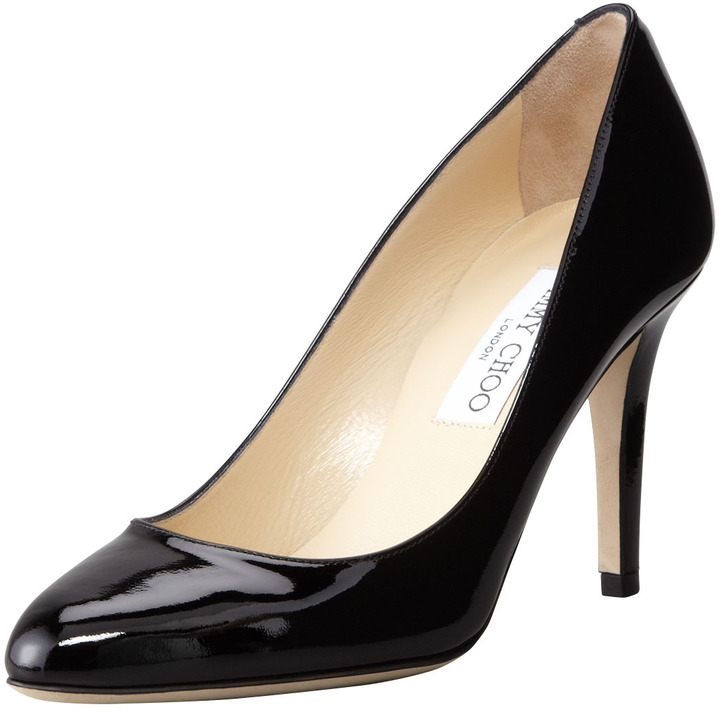 Jimmy Choo Victory Patent Leather Pump, Black