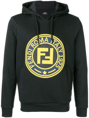 Fendi logo hooded sweatshirt
