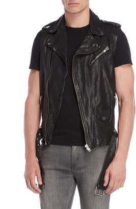 Lamarque Kei Leather Moto Vest