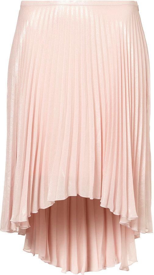Pleated Dip Back Skirt