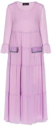 Emporio Armani Ribbon Tiered Dress
