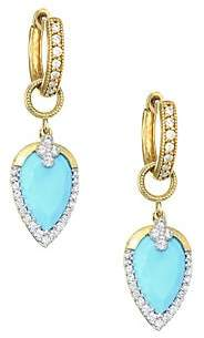 Jude Frances Diamond Pavé, Turquoise& 18K Yellow Gold Earring Charms