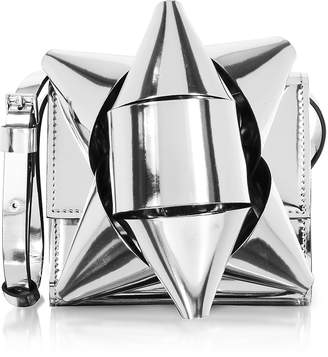 Maison Margiela Metallic Eco-Leather Bow Shoulder Bag