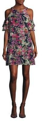 Vince Camuto Floral Cold-Shoulder Dress