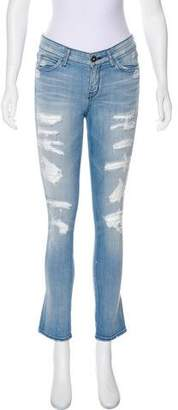 Rich & Skinny Mid-Rise Straight-Leg Jeans