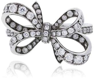 Tiffany & Co. Platinum Diamond Bow Ring