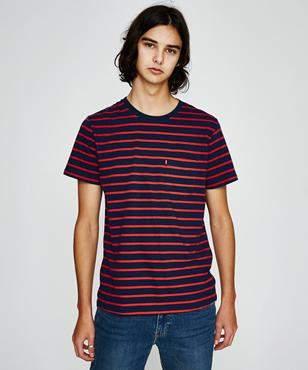 Levi's Short Sleeve Classic Pocket T-shirt Swim Dress Blues