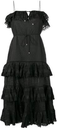Zimmermann Juniper Pintuck Tie Dress