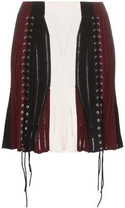 Alexander McQueen high-waisted knitted mini skirt