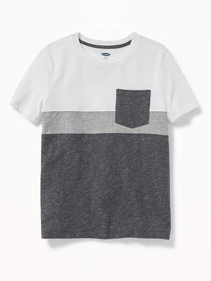 Old Navy Color-Blocked Slub-Knit Pocket Tee for Boys