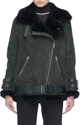 Acne Studios 'Velocite' belted shearling jacket