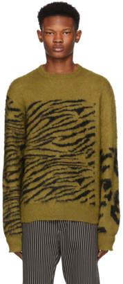 Toga Virilis Tan Mohair Jacquard Sweater