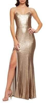 Dress the Population Ingrid Sequin Mermaid Gown