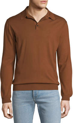 Ermenegildo Zegna Men's Long-Sleeve Polo Shirt