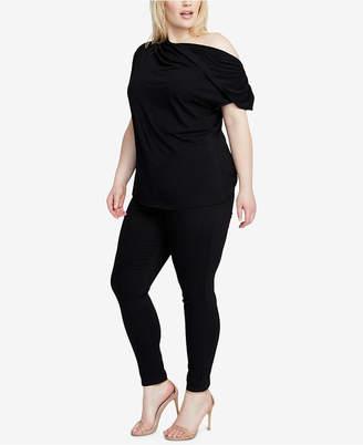 Rachel Roy Trendy Plus Size Twisted-Shoulder Top