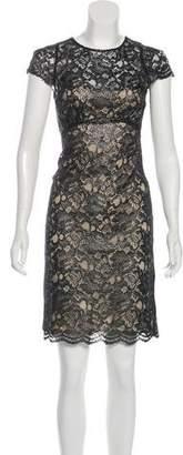 L'Agence Silk Lace Dress