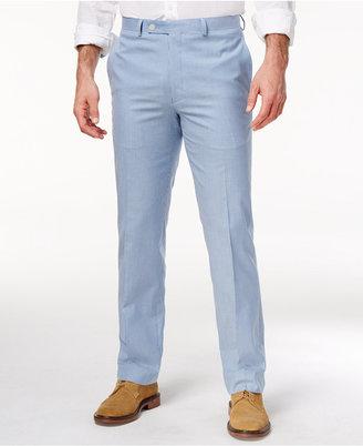 Lauren Ralph Lauren Men's Classic-Fit Blue Seersucker Cotton Dress Pants $125 thestylecure.com