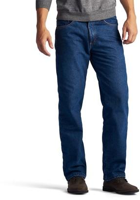Lee Men's Fleece-Lined Straight-Leg Jeans