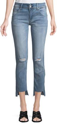 Hudson Cat Step-Hem Skinny Jeans