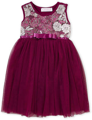 Popatu (Toddler Girls) Purple Floral Tulle Dress