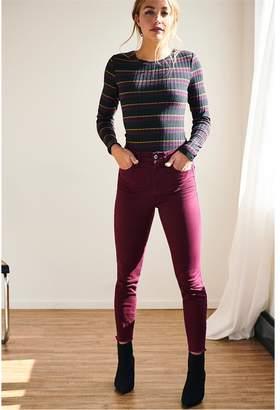 Dynamite Kate High Rise Super Skinny Jeans PERFECT BURGUNDY