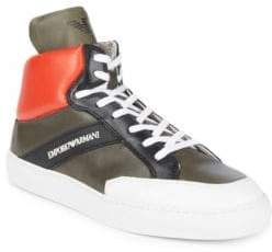 Emporio Armani Classic Leather Sneakers