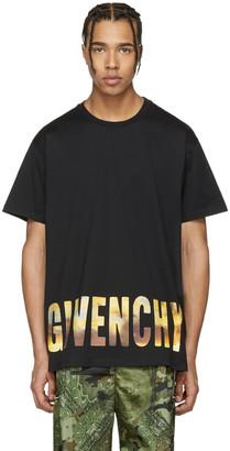 Givenchy Black Logo Horizon T-Shirt $520 thestylecure.com