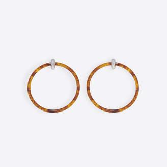 Balenciaga Brass dangling hoop earrings