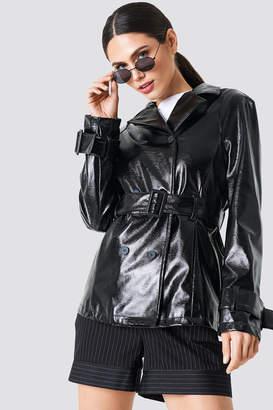 Na Kd Trend Belted Short PU Jacket